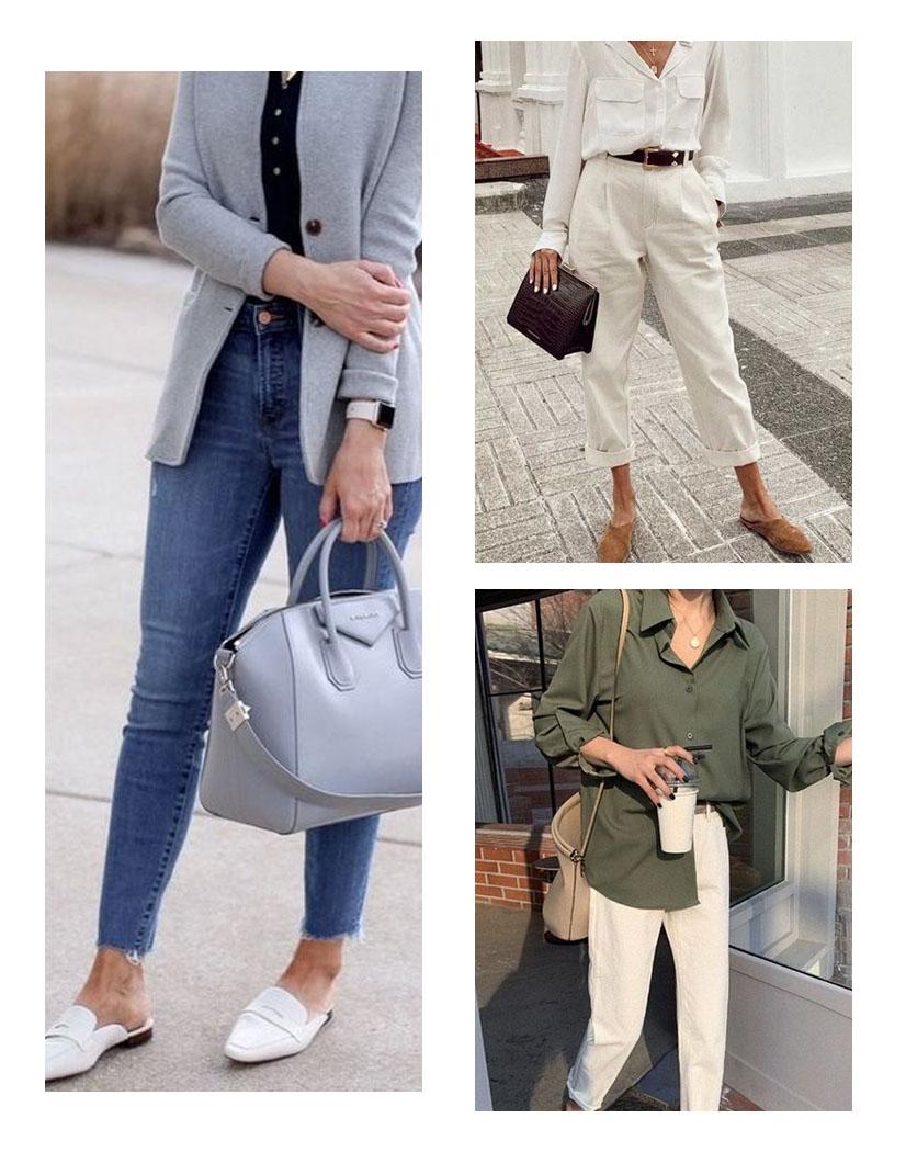 mule com blazer, mule looks trabalho, mule com camisa, mule com calça jeans